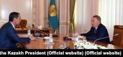 The meeting between Nazarbaev (right) and Babanov that sparked the row.7. Official Website (Office of the Kazakh President).
