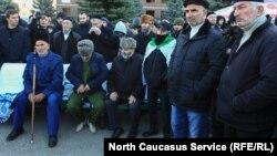 Протестующие в Ингушетии, 8 октября 2018 года