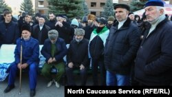 Протестующие в Ингушетии, 8 октября 2018 г.
