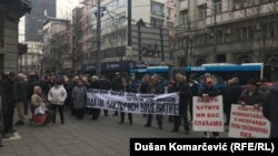 Protest radnika PKB-a, Beograd, 21. februar