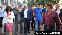 Andrija Mandić ispred Višeg suda u Podgorici