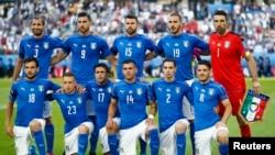 Сборная Италии перед матчем турнира Кубка Европы. Иллюстративное фото.