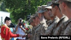 Odlazak drugog kontingenta crnogorskih vojnika u Avganistan, avgust 2010.