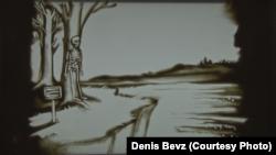 Картины песком для фильма выполнила художница Екатерина Бирюкова