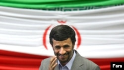 Iranian President Mahmud Ahmadinejad leaves the podium after taking the oath of office during his swearing-in ceremony in Tehran on August 5.