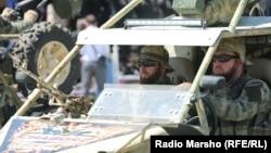 Кадыровцы на параде в честь Дня победы 9 мая 2017 года