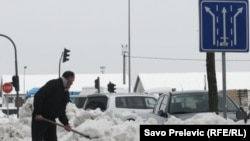 Snijeg u Podgorici, 13. februar 2012.