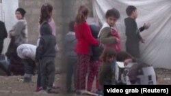 کودکان ایزدی در کمپی در عراق در فوریه ۲۰۲۰