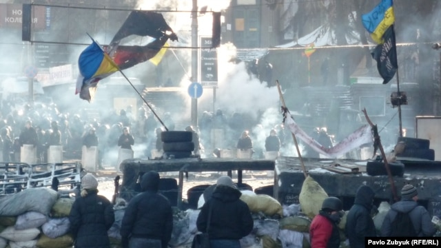 Киевский Майдан. Площадь Независимости. 31 января 2014 года
