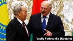 Қазақстан президенті Нұрсұлтан Назарбаевтың Беларусь президенті Александр Лукашенкомен кездесуі. Минск, 29 қараша 2017 жыл.