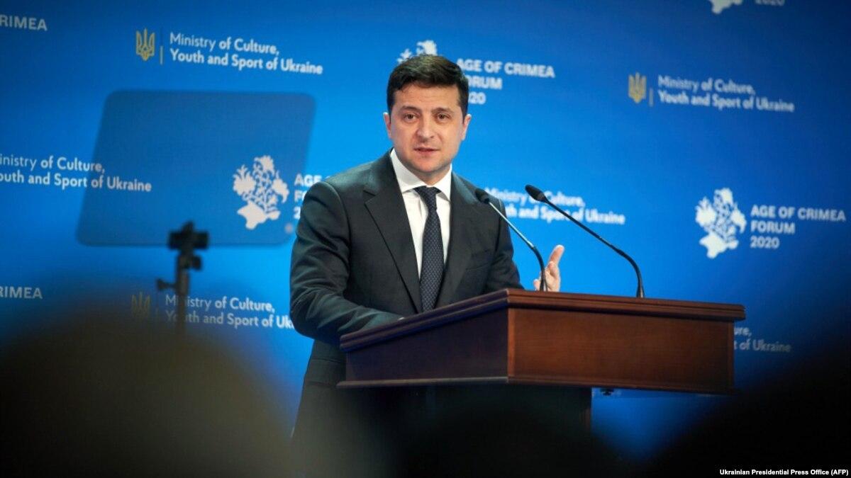Зеленский о возвращении Крыма и территорий Донбасса: «нужно попробовать без войны»