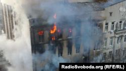 Пожежа в Одеському економічному коледжі. 4 грудня 2019 року