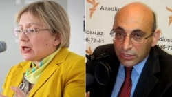 Azerbaijani rights advocate Leyla Yunus (left) and her husband Arif have been held separately in detention for a number of weeks.