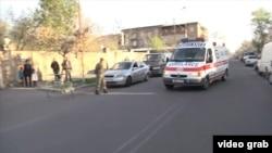 Военный госпиталь в Ереване, куда доставили часть раненых в Нагорном Карабахе