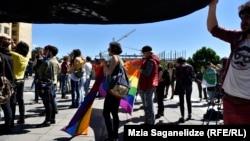 Під час маршу проти гомофобії, Тбілісі, 17 травня 2017 року