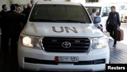 Ekipi i inspektorëve të Kombeve të Bashkuara që më herët ishte në Siri