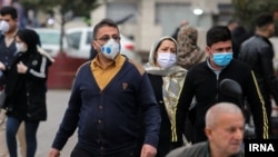 People going about their business in Tehran after the government lifted some of the restrictions put in place to stop the coronavirus epidemic. April 21, 2020