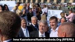 Третий президент Украины Виктор Ющенко во время праздника Дня независимости Украины, 28 августа 2019 года