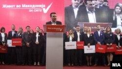 Премиерот и лидер на СДСМ, Зоран Заев, говори на митинг на партијата за Локални избори 2017.