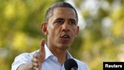 Президент США Барак Обама на пресс-конференции во время саммита в Картахене. 15 апреля 2012 года.