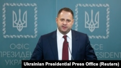 The Ukrainian president's new chief of staff Andriy Yermak (file photo)