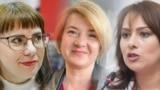 Прэтэндэнткі на прэзыдэнцкую пасаду Вольга Кавалькова, Натальля Кісель і Ганна Канапацкая