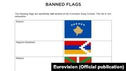 Neke od zastava koje je zabranila Evrovizija