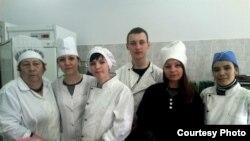 Игорь на курсах в кулинарном техникуме