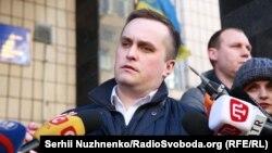 Керівник Спеціалізованої антикорупційної прокуратури Назар Холодницький прибув на допит в Генпрокуратуру України, Київ, 3 квітня 2018 року
