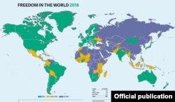 Dünya azadlığının xəritəsi