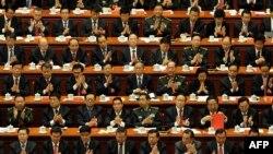 Делегаты съезда Коммунистической партии Китая. 14 ноября 2012 года.