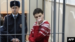 Надежда Савченко в Басманном суде. 4 марта 2014
