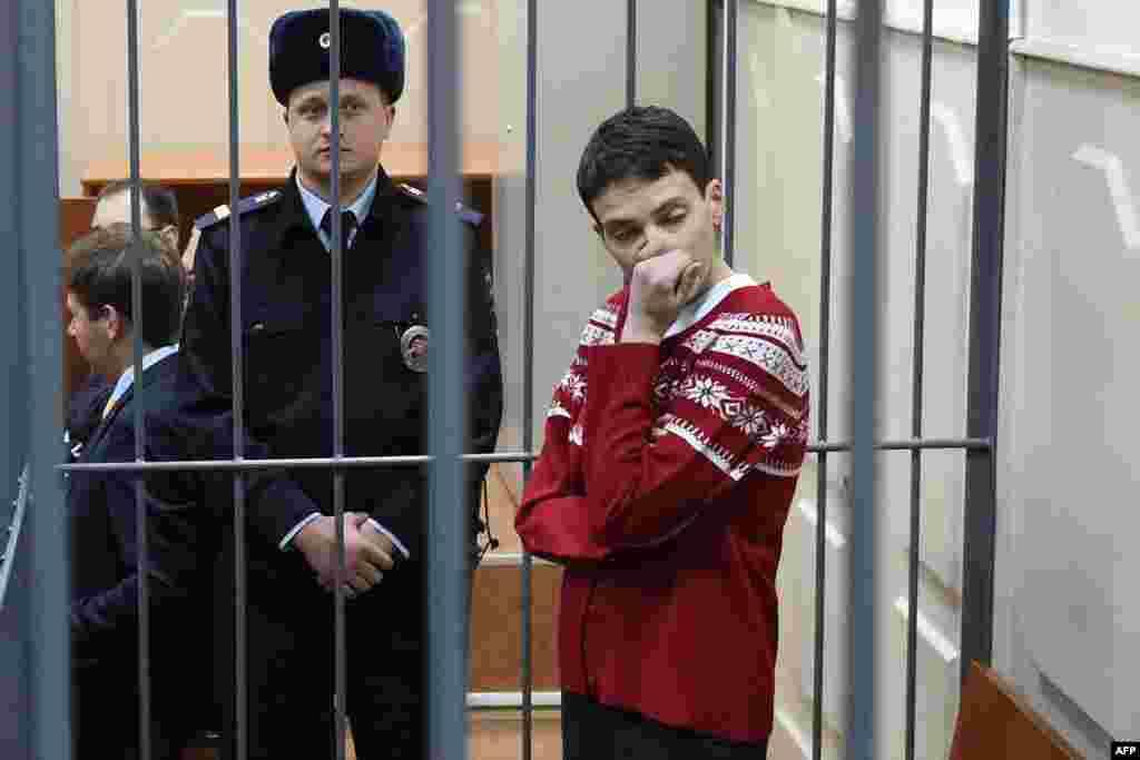 Надежда Савченко в Басманном суде Москвы. 4 марта 2016 года.