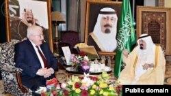 الملك عبد الله يستقبل الرئيس العراقي فؤاد معصوم في الرياض- 11 تشرين الثاني 2014
