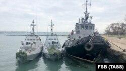 Захоплені українські кораблі в Керчі в анексованому Росією Криму, 25 листопада 2018 року