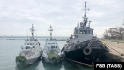 Захоплені українські кораблі в Керчі