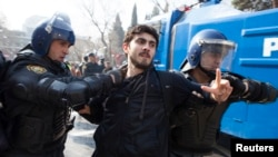 Opposition protests in Azerbaijan tend to face fierce police resistance.