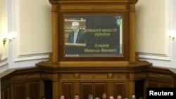Новый кабинет министров Украины на церемонии присяги Премьер-министра Николая Азарова, Киев, 11 марта 2010