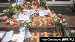 Акция против НТВ у Останкинского телецентра. Москва, 18 марта 2012 г