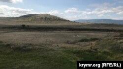 Висохлий ставок біля села Кирпичне, Білогірський район, 26 вересня 2020 року