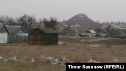 Бывший шахтерский поселок.