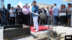 """Поставување камен-темелник на Технолошко-индустриска развојна зона """"Кичево""""."""