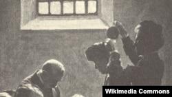 Prisilno hranjenje pripadnice pokreta za ženska prava (suffragette) koja štrajkuje glađu u zatvoru u 19. veku
