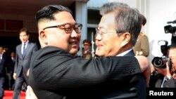 ჩრდილოეთ და სამხრეთ კორეის ლიდერების შეხვედრა 2018 წ. 26 მაისს.