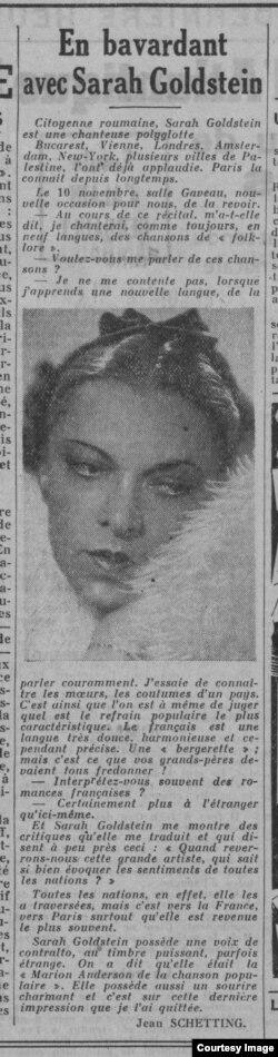 """O cronică de concert și un interviu în """"Ce soir"""", 9 noiembrie 1937"""