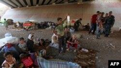 Лишившиеся домов курдские беженцы-езиды