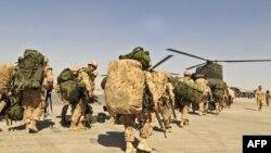 نیروهای امریکایی در حال خروج از کندهار