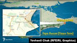 Место расположения источника минеральной воды «Феодосийская»