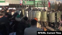 На митинге в Магасе