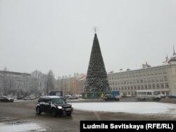 Новогодняя елка в Пскове